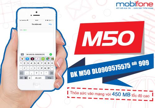Cú pháp đăng ký gói cước M50 MobiFone nhận 6GB tốc độ cao