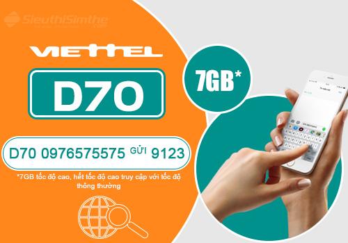 Hướng dẫn đăng ký gói cước Dcom 4G D70 Viettel với 70k/tháng