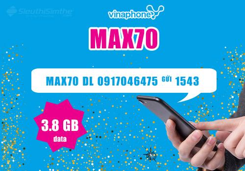 Gói cước MAX70 VinaPhone 3,8GB Có Gì Hót