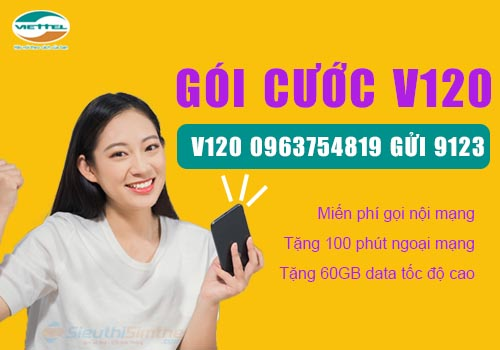 Sim Viettel V120 Miễn Phí Cước Gọi - Miễn Phí 60Gb Data