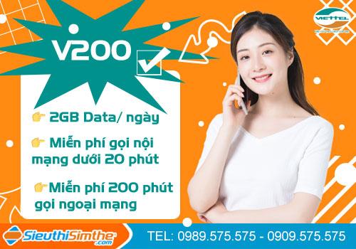 Gói cước V200 Viettel trả sau cực rẻ không lo nạp thẻ