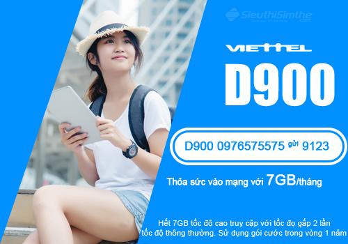 Sim 4G Viettel D900 Dùng Mạng Miễn Phí Trọn Gói 1 Năm