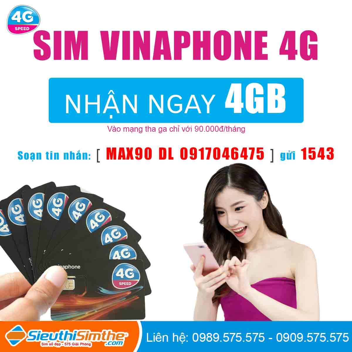 Sim 4G VinaPhone Miễn Phí 1 Năm Không Phải Trả Tiền