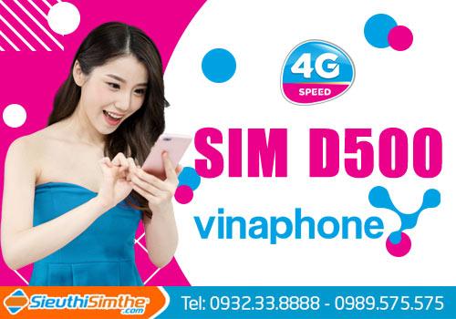 Sim D500 VinaPhone, siêu sim 4G vào mạng cả năm chẳng tốn một xu.