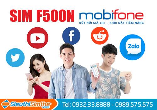 Sim F500N Mobifone 4G cả năm chả tốn một đồng